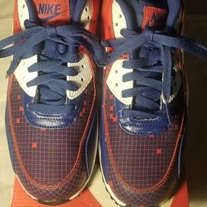 Nike Airmax 90' Size 7y Red and Blue